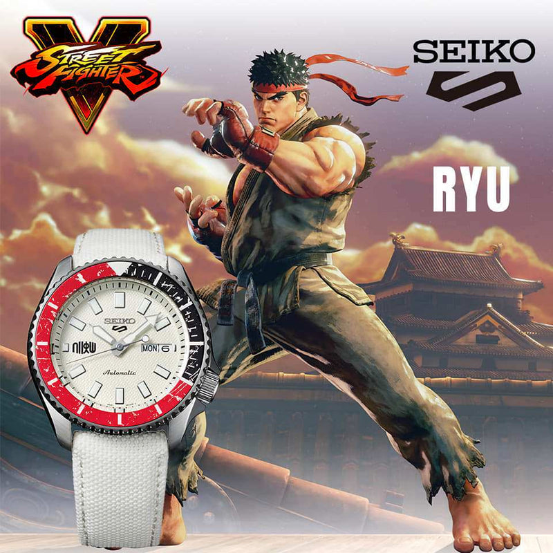 SEIKO 5 Sports Street Fighter V RYU SRPF19K1 街頭霸王V 限量發行9,999枚