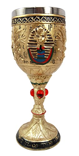 Egyptian Pharaoh King Tut Resin Chalice