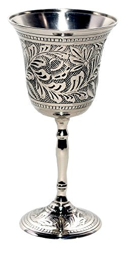 Silver-Nickel Plated Antiqued Chalice