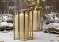 Set of 12 Ivory Pillar Candles