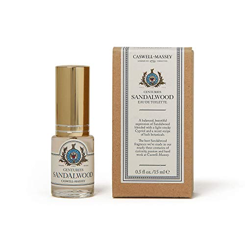 Caswell-Massey Centuries Sandalwood Eau De Toilette Travel Spray –Unisex Botanical Fragrance, Made in USA – 0.5 Ounces