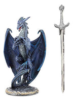 Blue Dragon Statue with Dragon Letter Opener/Athame