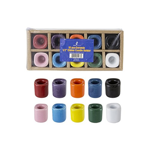 10 pcs Assorted Colors Ceramic Chime Ritual Spell Candle Holders