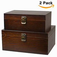 Handcrafted Wood Boxes (two-pack)