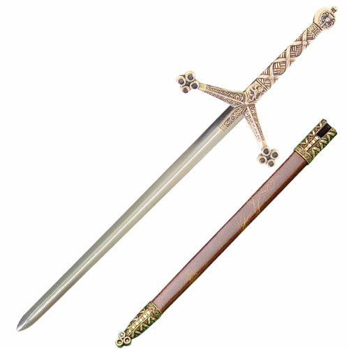 Medieval Claymore Sword Letter Opener with Scabbard