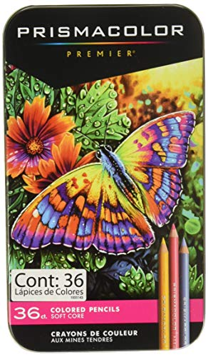 Prismacolor 92885T  Premier Colored Pencils, Soft Core, 36 Piece