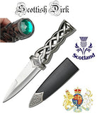 Thor's Hammer Twisted Steel Athame Dagger with Red Ruby