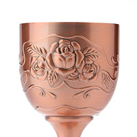 Vintage Hand-made Pure Copper Rose Chalice