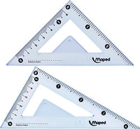 "Maped Study Geometry 10 Piece Set, Includes 2 Metal Study Compasses, 2 Triangles, 6"" Ruler, 4"" Protractor, Pencil for Compass, Pencil Sharpener, Eraser, Lead Refill (897010)"