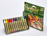 Crayola Oil Pastels Portfolio Series, Water Soluble, Assorted Colors, 12 Count (52-3612)