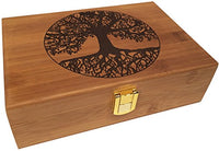 Tree of Life Wood Box Engraved