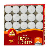 Ner Mitzvah Mini Tea Light Candles - 50 Bulk Pack - White Unscented Travel, Centerpiece, Decorative Candle - 1 Hour Burn Time - Pressed Wax