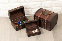 Antique Wooden Boxes (3 Piece Set)