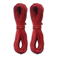 LWR CRAFTS 2mm Waxed Cotton Cord 45 Feet Per Pack (Pack of 2) (Red)