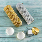 "1000 PCS Cupcake Liners 1.25"" Mini Foil Baking Cups Wrapper Muffin Cases Gold and Silver Tulip Paper Cups for Baby Shower, Birthday Party, Weddings Decorations"