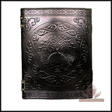 Handmade Black Pentagram Embossed Leather Journal