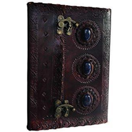 Medieval Stone Embossed Handmade Book of Shadows