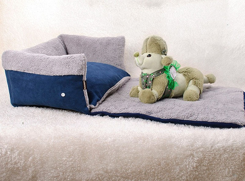 Convertible Pet Bed with Blanket
