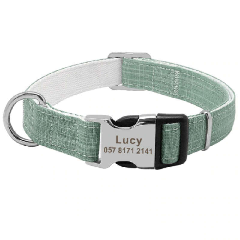 Laser Engraved Personalised Collar