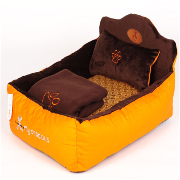 Pet Bed With Detachable Pillow and Blanket