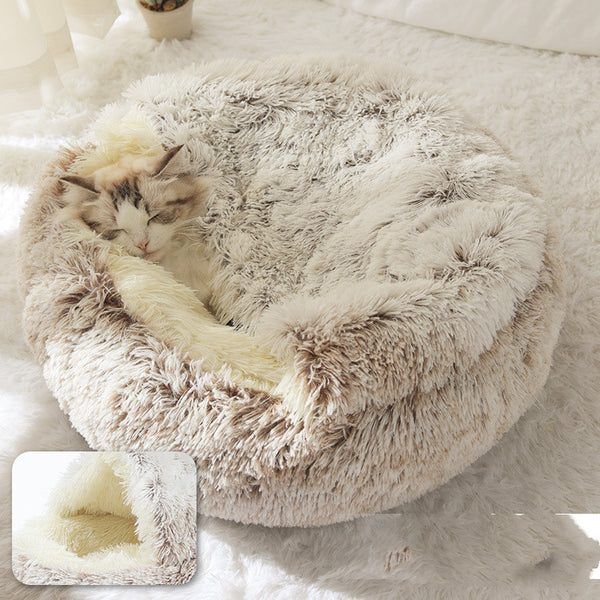 2-in-1 Plush Pet Beds