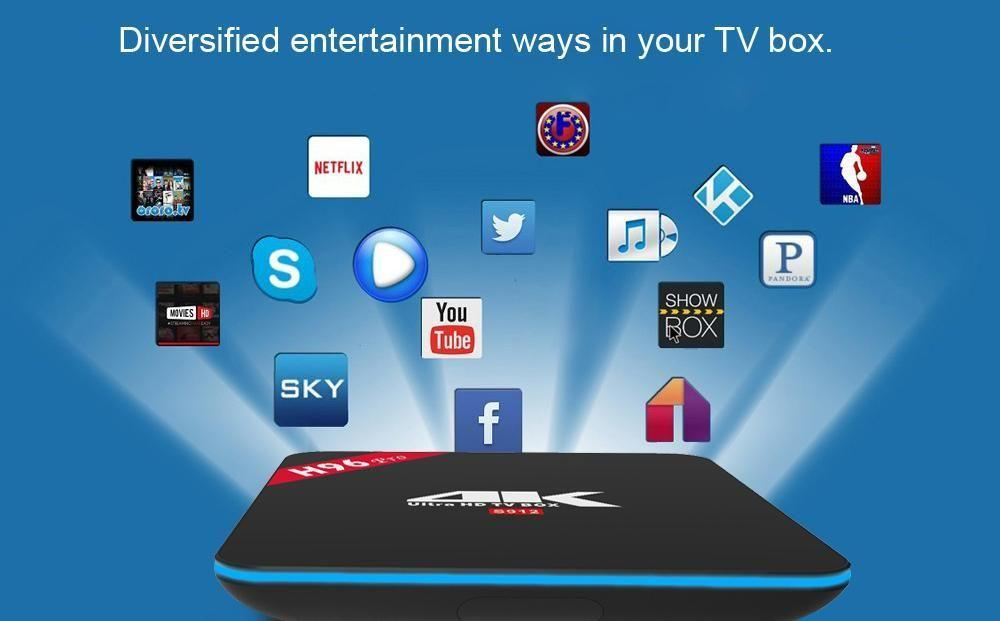 Android 6.0 H96 PRO Amlogic S912 BT 4.0 2G 16G Online Updater Double wifi Smart Tv Box - SquareDubai
