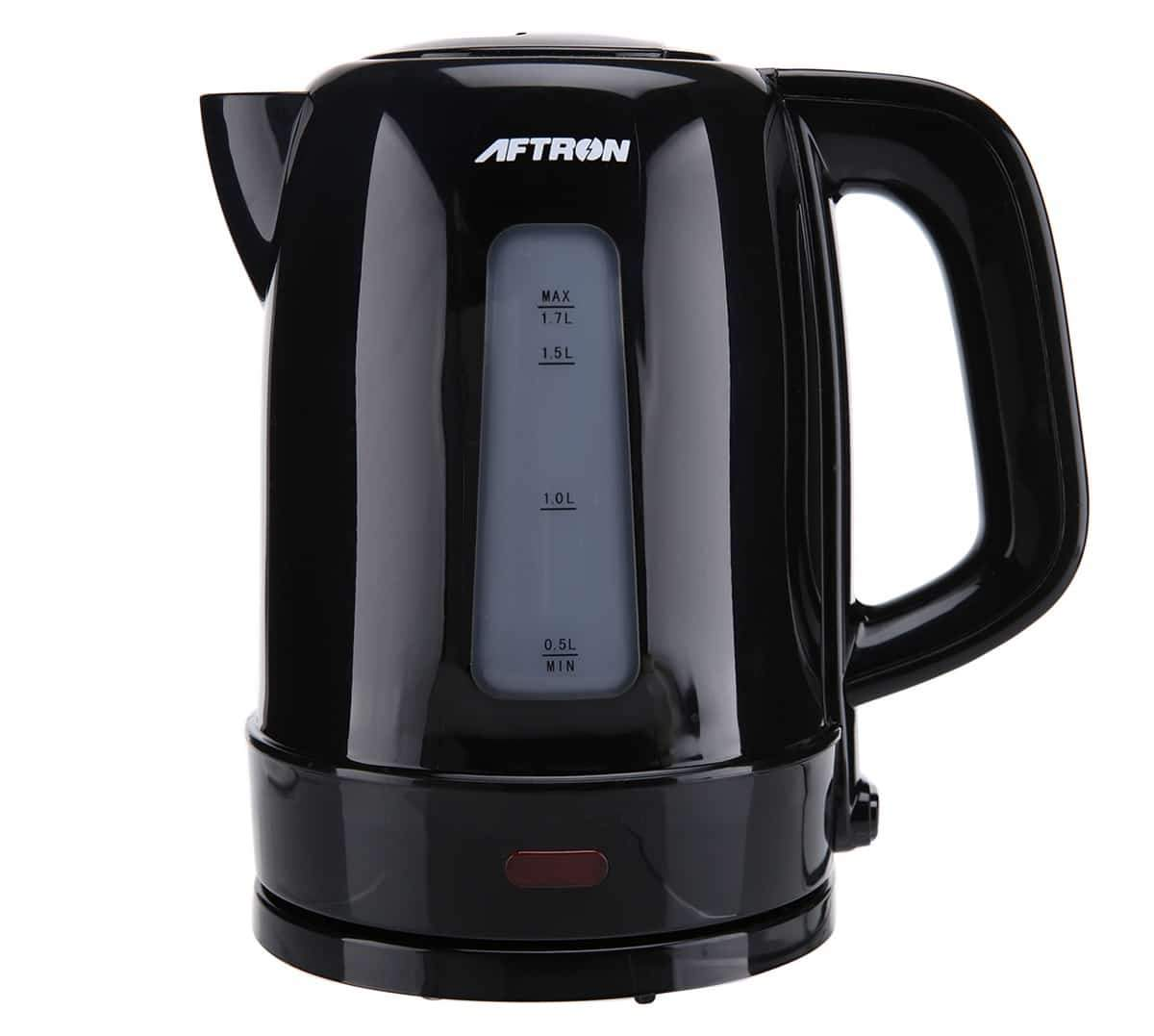 Aftron Kettle & Toaster Breakfast Set (750 W, 2,220 W, Black) - SquareDubai