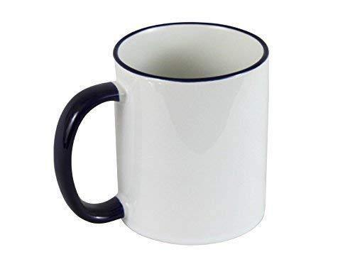 11oz Sublimation Coloured Mugs Black
