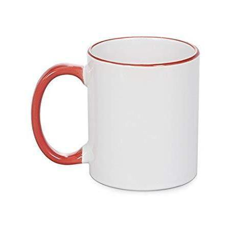 11oz Sublimation Coloured Mugs Red