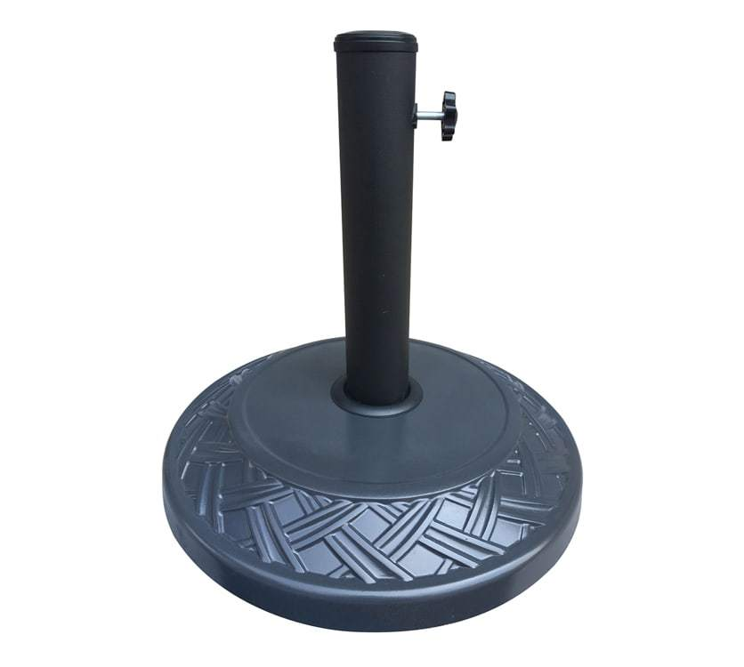 Concrete Umbrella Base - Wooven Design (16 kg, Black)