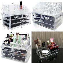 Load image into Gallery viewer, 2in1 Acrylic Jewelry and Cosmetic Display Storage Boxes