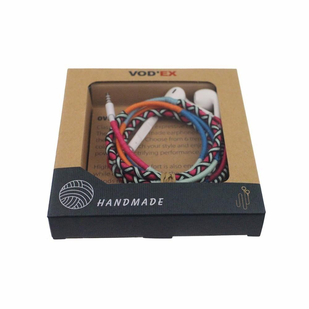 VODEX Hand Made Braided Headphone Fashionable Colorful Weave Handfree Handset for all Mobile phones