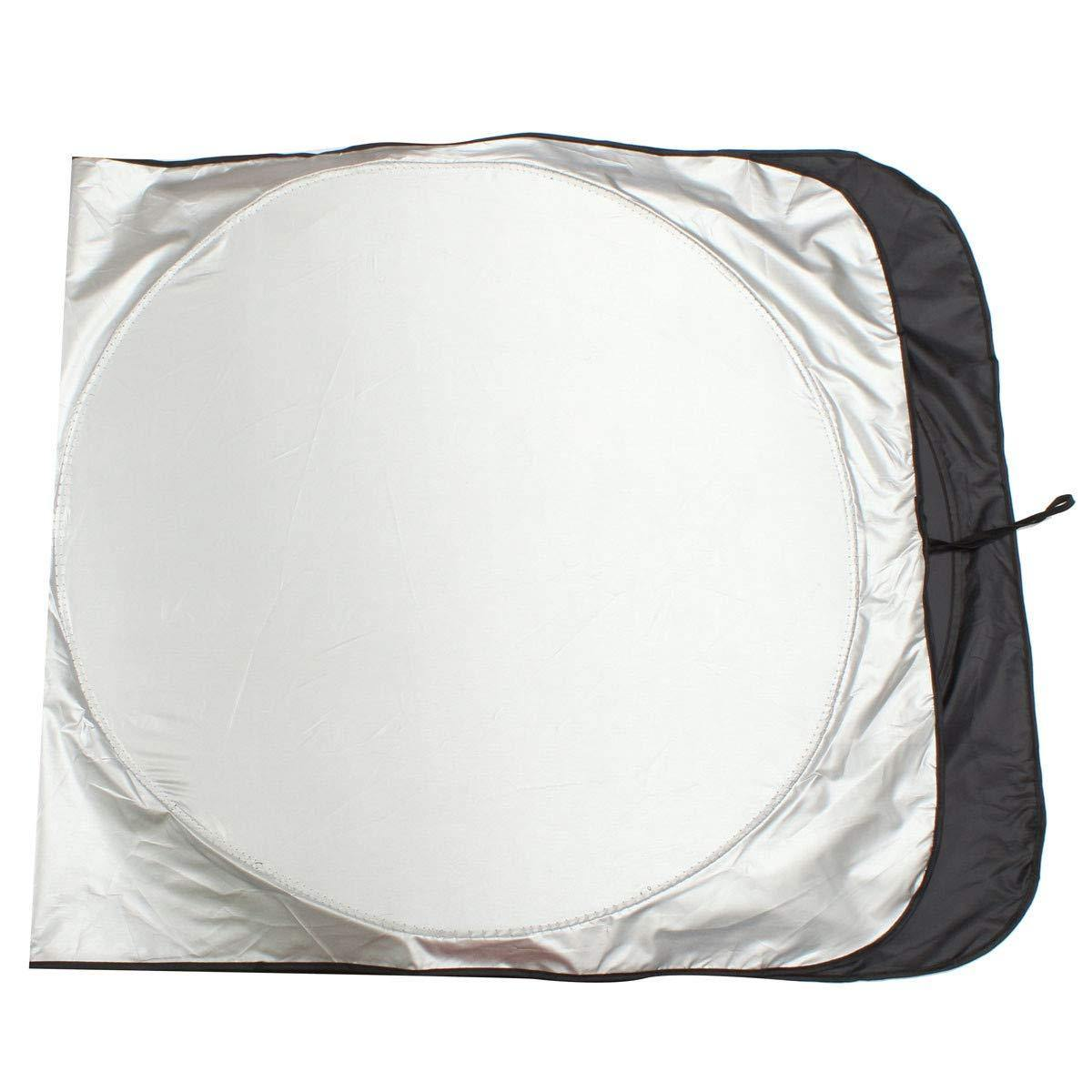 2in1 Nylon Sunshade 150X70CM - Silver/Black