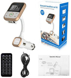 Wireless Bluetooth Car Kit  FM Transmitter MP3 Player Support USB SD Card USB Charger