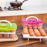 Egg Food Container Storage Box 24 grid Bilayer Basket Organizer - SquareDubai
