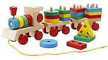 Load image into Gallery viewer, Shape train Classic Wooden Toddler Toy
