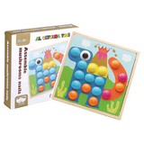 Assemble Mushrooms Nails Educational Wooden Toy - SquareDubai