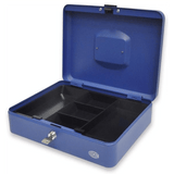 Cash Box Steel Blue Color With key lock
