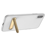 Baseus Phone Cover Case with Magnetic Holder Stand for iPhone X in White - SquareDubai