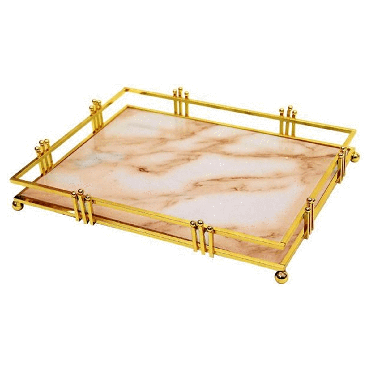 Liying Marble,Gold - Serving Trays