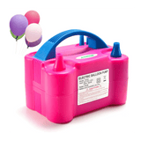 Balloons Blowing Machine with Two Nozzle, Pink - SquareDubai