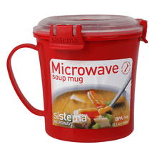Load image into Gallery viewer, Sistema Microwave Soup Mug with Lock (656ml)