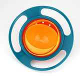 Gyro Bowl Spill Resistant Kids Gyroscopic Bowl With Lid