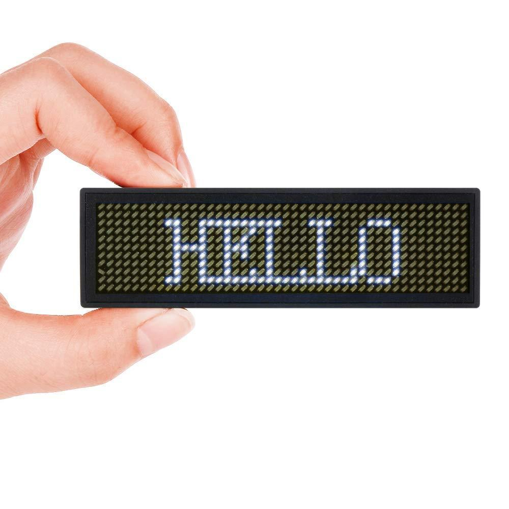 LED Name Badge Tag Scrolling for Restaurant Shop Party Bar Exhibition