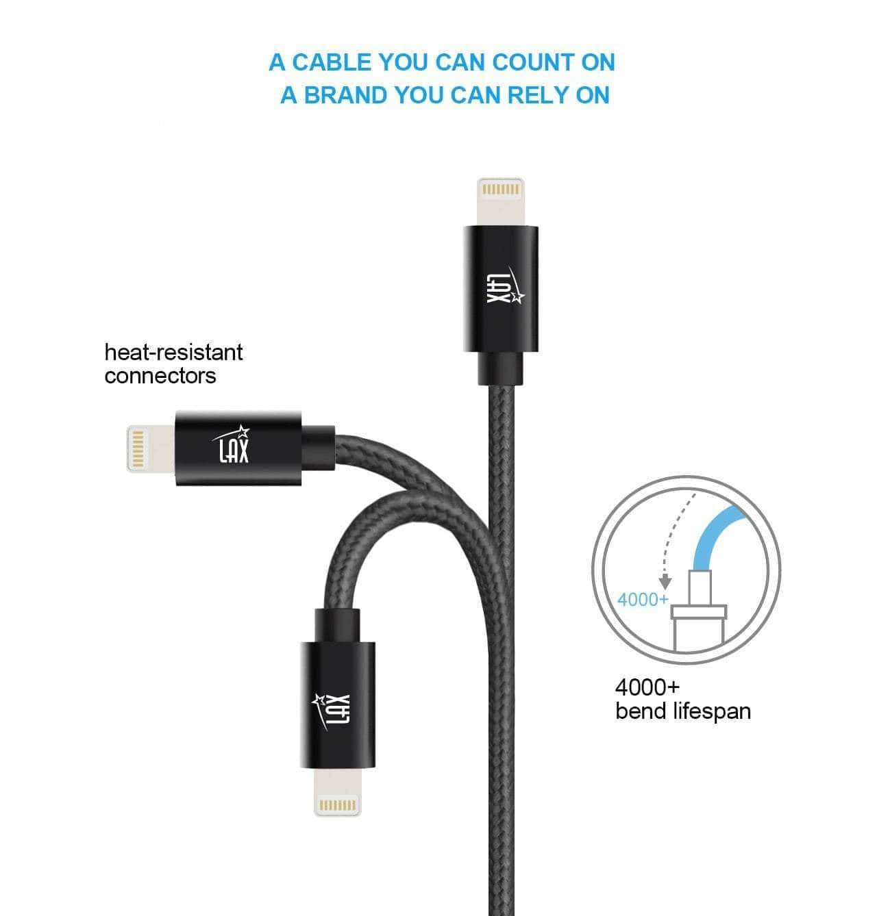 MFi Certified 5Mtrs Durable Braided Apple Lightning USB Cord