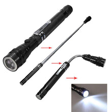 Load image into Gallery viewer, Flexible Flexi Torch Telescopic 3 LED Magnetic Pick Up Tool Light Flashlight - SquareDubai
