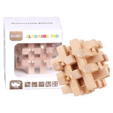 Educational Toys Interesting Unlock Wooden Puzzle ADE7854 - SquareDubai