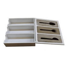 Load image into Gallery viewer, Eastlady KS01 White Color Cutlery Box - SquareDubai