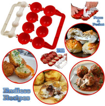 Load image into Gallery viewer, Meatballs Mold Maker Food-Grade Plastic Fish Balls Handmade Meat Ball Mold DIY Kitchen Tools