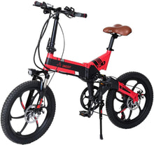 Load image into Gallery viewer, Aest Top730 Folding Electric Bike - Black Red (20 Inch)